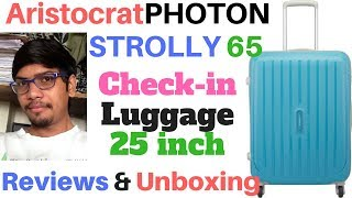 Aristocrat PHOTON STROLLY 65 360 TBL Check-in Luggage-25inch reviews & unboxing