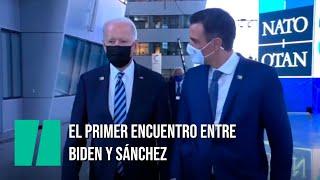 Biden y Sánchez: 30 segundos en un pasillo de la OTAN