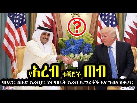 የአረብ ቱጃሮች ጠብ The Wealthy Arab States - DW Amharic (June 6, 2017)