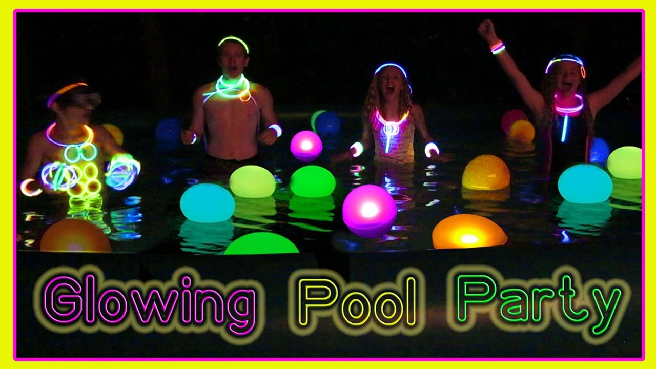 Glow In The Dark End Of Summer Pool Party Youtube