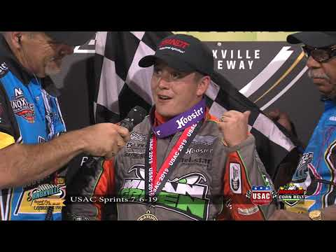 Knoxville Raceway USAC/Powri War Victory Lane Interviews - July 6, 2019