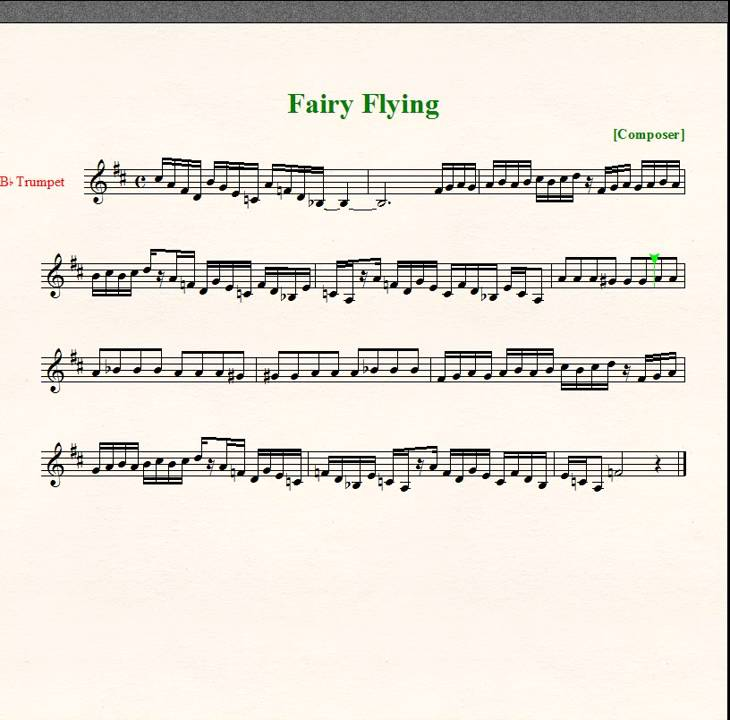 All Music Chords haydn trumpet concerto sheet music : Zelda: Ocarina of Time: Fairy Flying - Sheet Music - Trumpet - YouTube