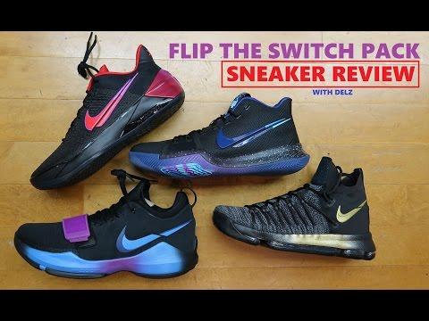 Nike PG 1,Kyrie 3,KD 9 & Kobe 'FLIP THE SWITCH' Sneaker Detailed Reviews