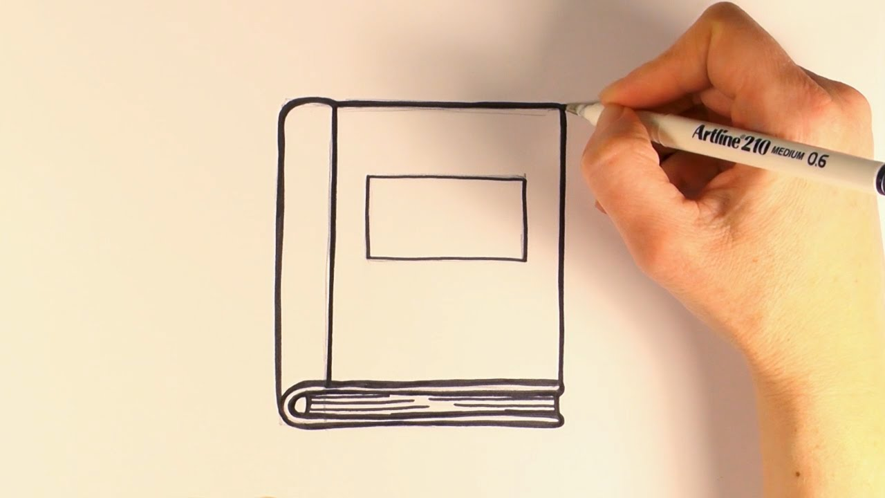 how to draw a cartoon book youtube