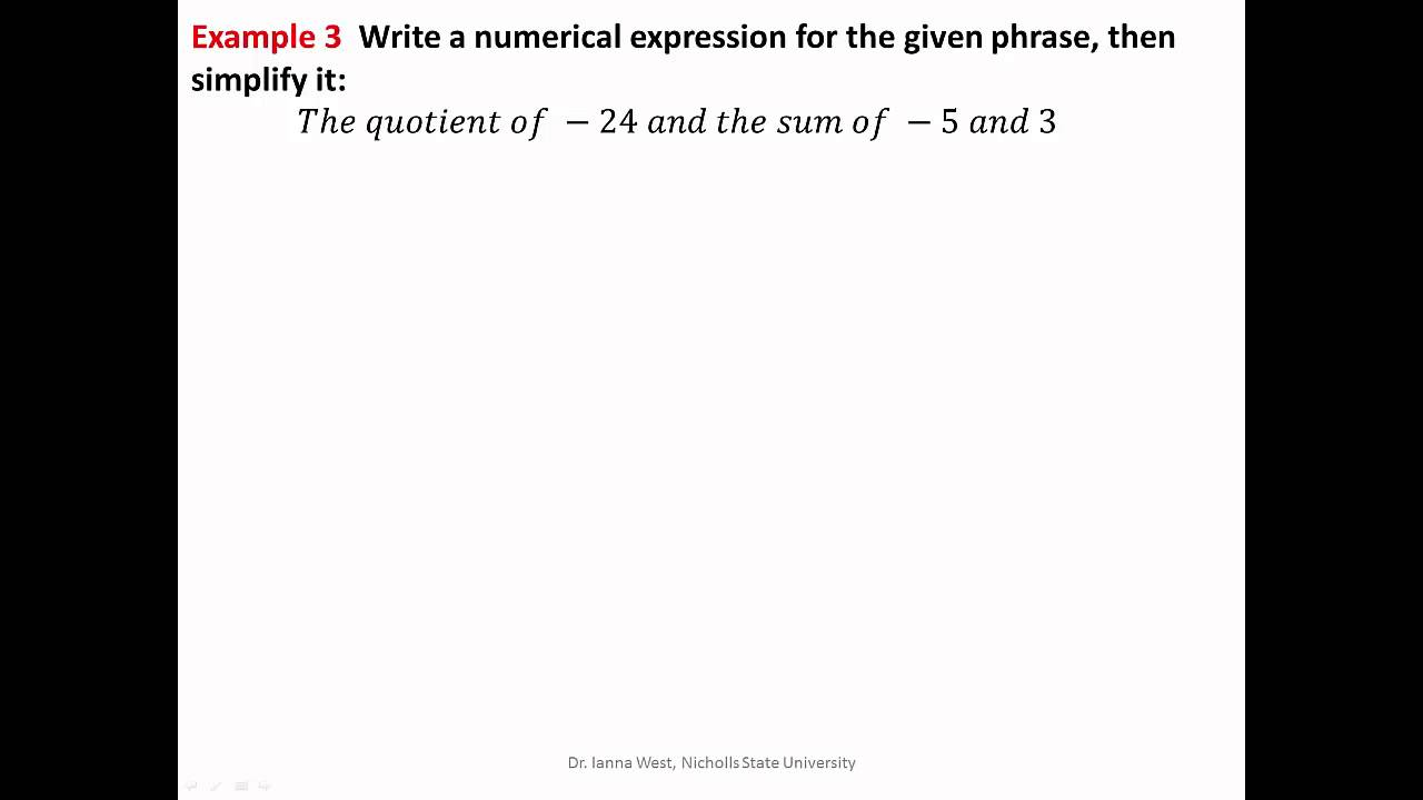 Essay on order of operations