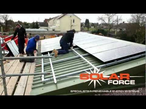 Solarforce UK Solar PV installation to a Commercial property