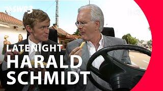 Autofahrt durch Nuertingen mit Harald Schmidt