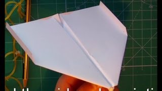 Tutorial 2009 guinness record paper airplane it fly 27.9 s (Takuo Toda) [hand launch]