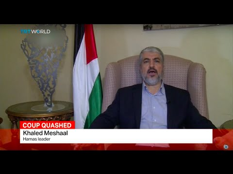 Leader of Palestinian group Hamas speaks about the failed coup attempt