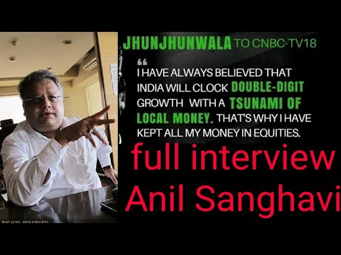Rakesh Jhunjhunwala  full view 2018 in stock market interview with Anil Sanghavi
