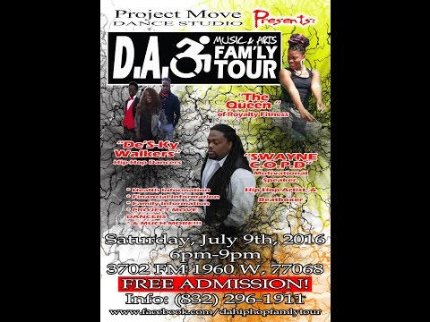 """""""Official Video"""" The D.A. Music & Arts Fam'ly Tour Vol. 4, Houston, TX July 9, 2016"""