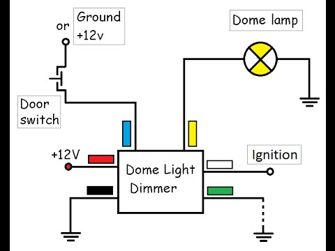 Dome Light Dimmer with delay - YouTube