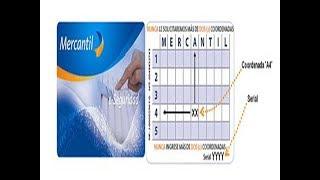 como solicitar la tarjeta coordenada por mercantil en linea