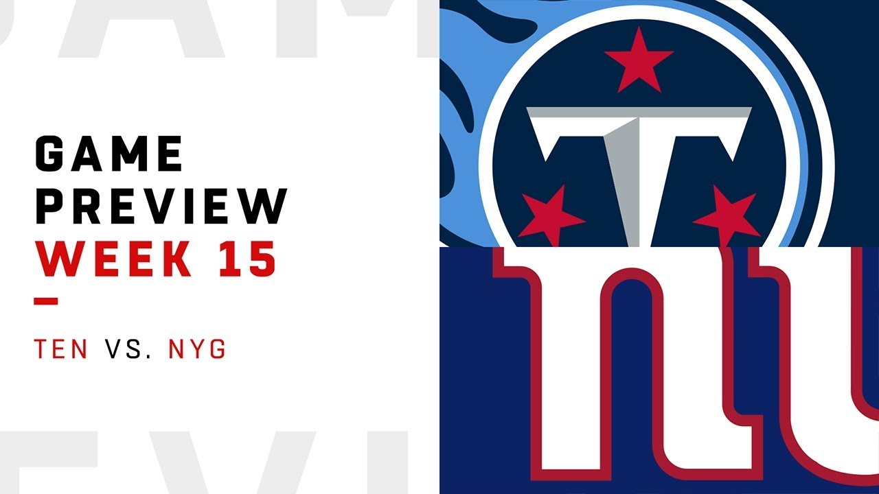 Tennessee Titans vs. New York Giants | Week 15 Game Preview | Move the Sticks