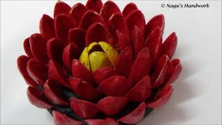 Art From Waste-recycled Pistachio Flower (diy) By Nagu's Handwork