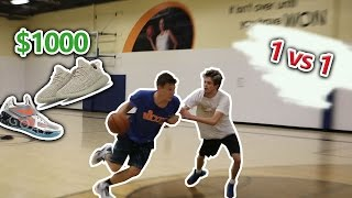 1V1 VS JESSERTHELAZER for $1000 shoes!!!