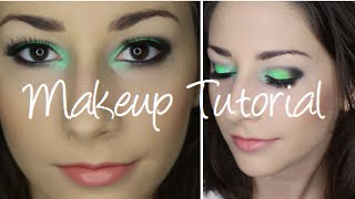 Mint and Lime Green Makeup Tutorial using Colour Pop and Sleek Acid Palette