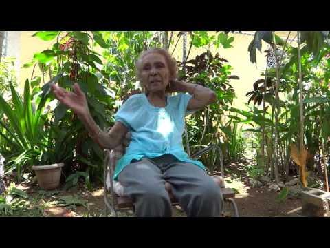 Michael Casiano interviewing Grandma in Puerto Rico