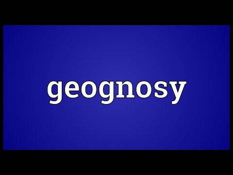 Header of geognosy