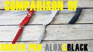 Zapętlaj Victorinox Hunter Pro Alox Red vs Black and Alox M edition | Unbox My Life