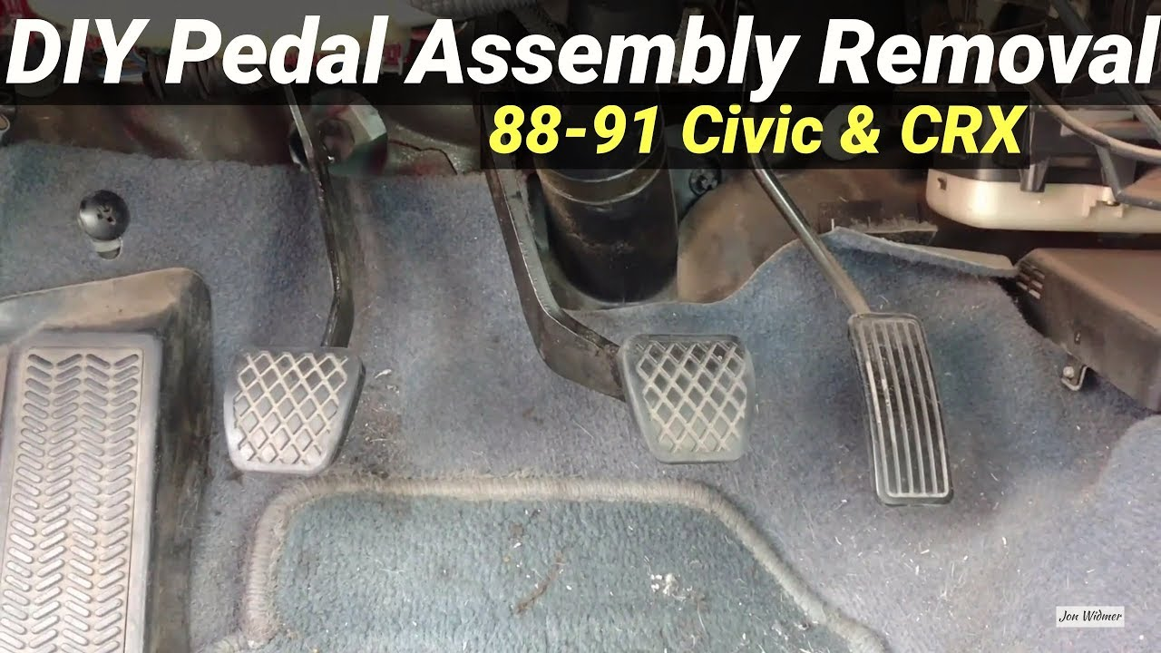 how to remove pedal assembly honda civic crx 88 91 ef [ 1280 x 720 Pixel ]