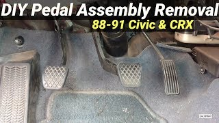 How to Remove Pedal Assembly Honda Civic & CRX 88-91 EF