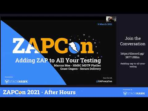 ZAPCon 2021 After Hours: Adding ZAP to All Your Testing