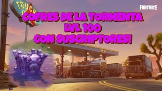 COFRES de la TORMENTA lvl lvl 128 Ft Juan LIVE - Fortnite Save the World