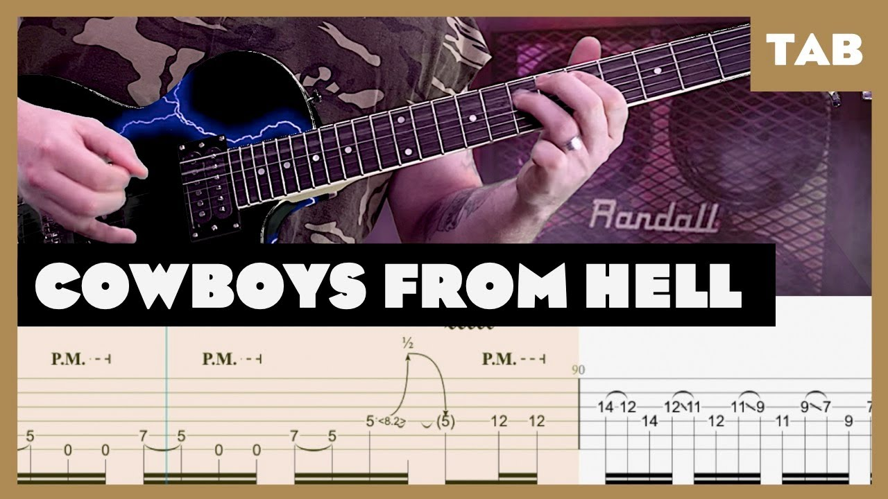 Cowboys from Hell Pantera Cover   Guitar Tab   Lesson   Tutorial