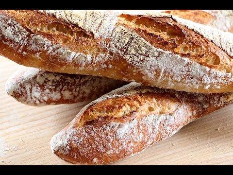 Baguettes caseras ¡Sin amasar!