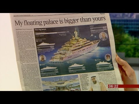 Multi million (£) yachts set to increase (Global) - BBC News - 23rd October 2018