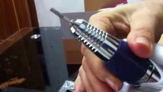 How to insert the bit to the handpiece of Bellehome Purple Electric Nail Drill