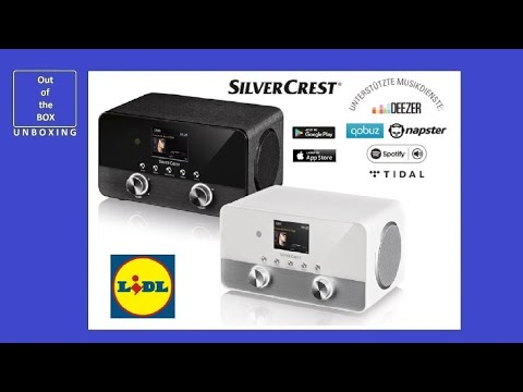 SIlverCrest Stereo Internet Radio SIRD 14 C4 UNBOXING (Lidl DAB+ RDS 4-in-1)