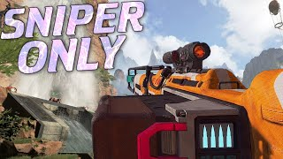 Worlds First Sniper Only Win with NO TEAMMATES in Apex Legends!