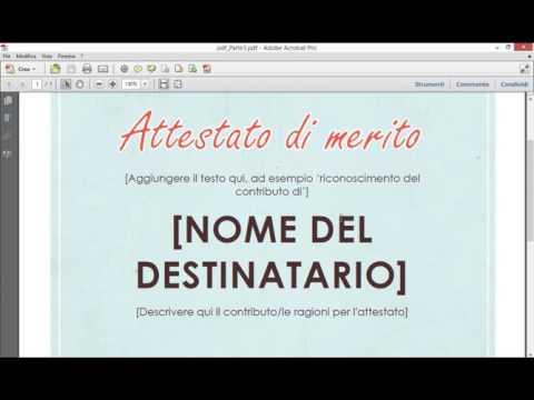 Adobe Acrobat Pro / Come Modificare Impaginazione Di Un PDF
