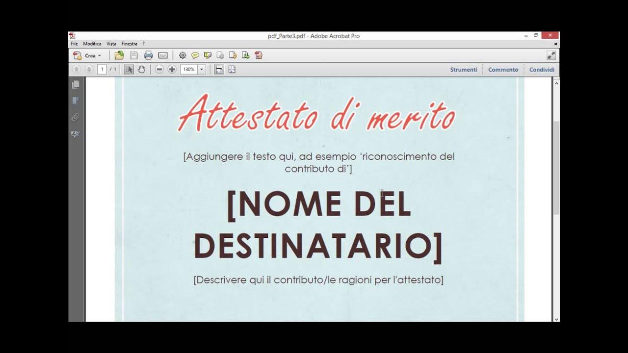 Adobe Acrobat Pro Come Modificare Impaginazione Di Un Pdf