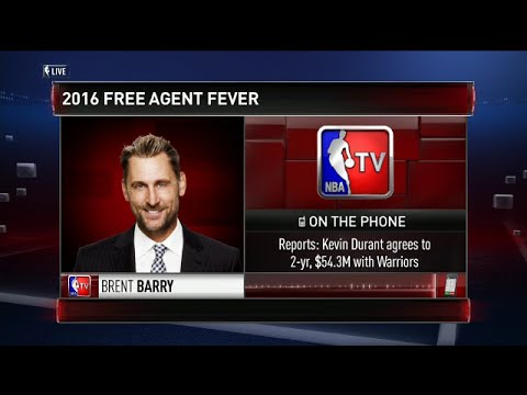 Brent Barry on Kevin Durant decision to join the Warriors