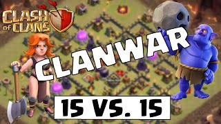 15 VS. 15 CLANWAR HIGHLIGHTS - Let's Play Clash of Clans