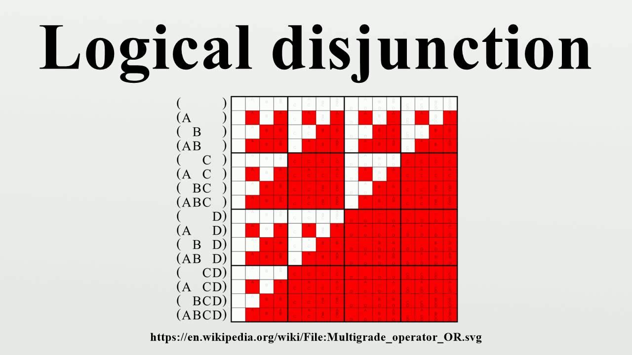 logical disjunction