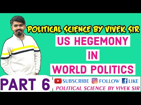 US Hegemony As Hard Power || NCERT || Political Science