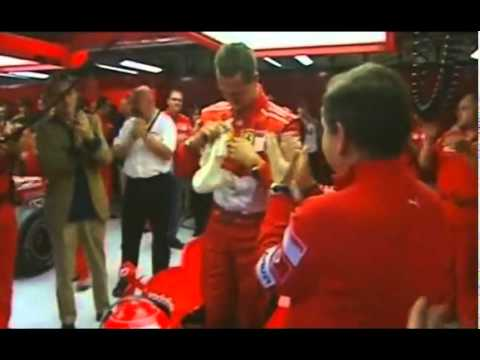 Michael Schumacher's last lap with Ferrari