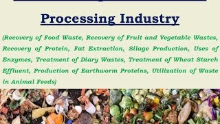 Waste Management in Food Processing Industry
