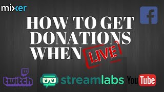 HOW TO SET UP DONATIONS on Twitch and YouTube with STREAMLABS