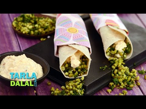 Methi and Moong Sprouts Wrap (Healthy Diabetic Recipe) by Tarla Dalal
