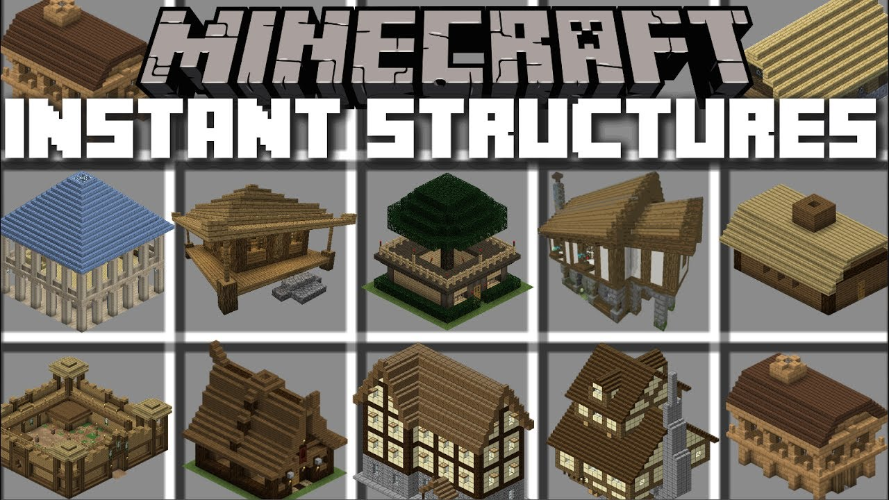 Minecraft INSTANT STRUCTURES MOD / LORD OF THE RINGS EDITION!! Minecraft