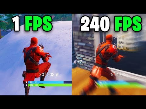 What it feels like to play in 240 FPS - Fortnite Frame rate Comparison 60 vs 144 FPS vs 240 FPS/hz