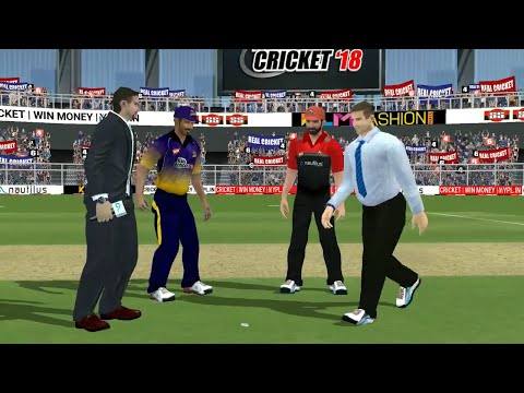 28th April IPL 11 Kolkata Knight Riders Vs Royal Challengers Bangalore Real cricket 2018 Gameplay
