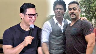 Aamir Khan's Funny Reaction On Salman Shahrukh Cycling Together!