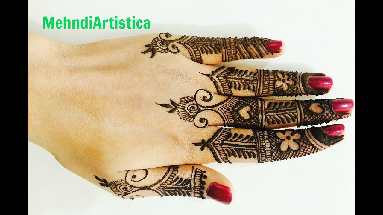Mehndi Fingers Rating : Beautiful easy fingers mehndi patterns for handslearn stylish
