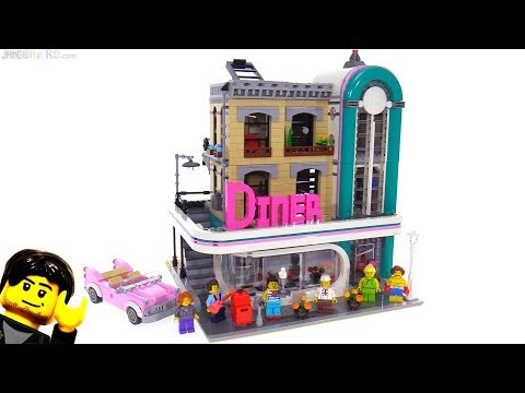 LEGO Downtown Diner modular building review 10260
